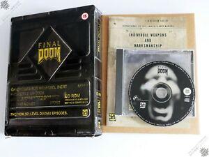 PC IBM FINAL DOOM II 2 BIG BOX WIN 95 VINTAGE COMPUTER GAME ID SOFTWARE