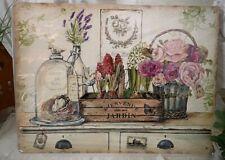 Blechschild Wandbild  Roses Dome Vintage  Shabby Landhaus 33cm