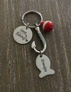 Fish urn keychain custom personalized name Memorial cremation ashes Dad Grandpa