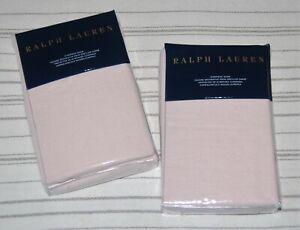2 NEW Ralph Lauren Olivia Clotilde Linen EURO Pillow Shams, Blush Pink