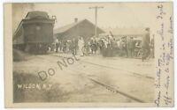 RPPC RW&O New York Central Railroad Station Depot WILSON NY Real Photo Postcard