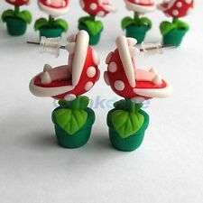 Potted enchantress Plant Polymer Clay Stud Earrings gift gamer hang gift red