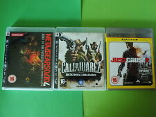 Metal Gear Solid 4, causa justificada 2, Call of Juarez, juegos de PS3, Excelente Estado