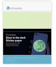 Silhouette brand-printable glow in the dark sticker paper Brand New In Package!