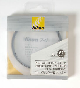 Nikon NC Neutral Color filter protection UV 67mm Camera Photography Accessory