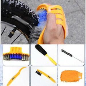 6-piece Set Bicycle Clean Tools Kit Washing Tire brush MTB Road Bike Motorcycle