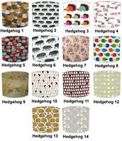 Kids Hedgehogs Lampshades, Ideal To Match Hedgehogs Bedding Sets & Duvet Covers.