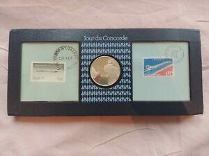 MEDAILLE COMMEMORATIVE - TIMBRES - JOUR DU CONCORDE - 1976 - PARIS - RIO DE JANE