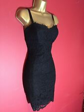 Ted Baker Valarie Black Lace Bodycon Cami Dress Size 2 UK 10 US 6 Eu 38