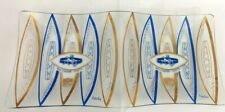 """Rare Vintage Baltimore Colts NFL Hedy Glass 12"""" x 6"""" Snack Tray"""