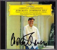 Christian THIELEMANN Signiert SCHUMANN Symphony No.2 Konzertstück for 4 Horns CD