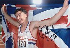 Jonathan Edwards Olimpiadi Firmata a Mano 12x8 12x8 foto Gran Bretagna 1.