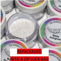 WHITE HOLOGRAM Rainbow Dust 'Edible' Cake Glitter Sparkle repackaged