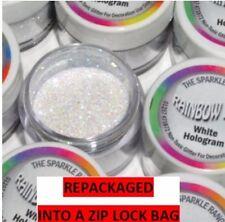 WHITE HOLOGRAM Rainbow Dust Cake Glitter Sparkle repackaged