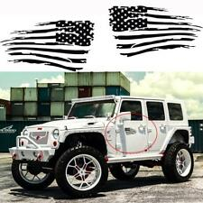 American Flag Vinyl Decal Auto Sticker For Jeep Wrangler Ford Chevy Dodge Trucks