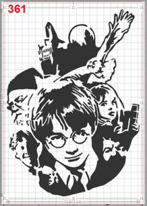 Harry Potter Portrait Stencil MYLAR A4 sheet strong reusable art craft WALL DECO