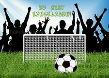 8 Einladungskarten Fußball Soccer Geburtstag Kinder Kindergeburtstag Einladungen