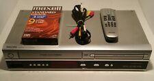 PHILIPS DVP3050V/37 VHS Video Cassette Recorder & DVD Combo Player w/ Remote
