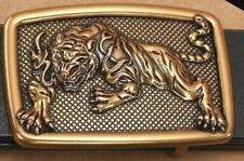 iBELTS MENS WOMENS DESIGNER TIGER BRASS LUXURY 38MM PIN BUCKLE ONLY NO BELT LTD