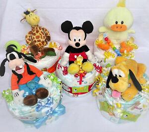 Baby kleine Windeltorte Geschenk zur Geburt Taufe Paket Erstausstattung Junge