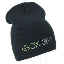 XBOX 360 Microsoft Windows Men's Black Acrylic Knit Beanie Promo Hat Cap OS T3