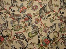 "Madagascan Lemur ""Animal Tapestry"" Designer Fabric Upholstery Curtains Cushions"