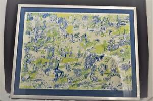 John Himmelfarb Whirled Map 1971 Lithograph Signed & Limited Edition 8/50 HTF