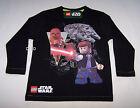 Lego Star Wars Boys Black Printed Long Sleeve T Shirt Size 5 New