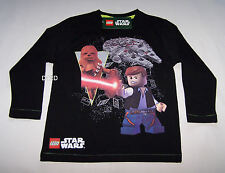 Lego Star Wars Boys Black Printed Long Sleeve T Shirt Size 4 New