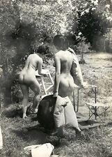 1082 # Photo ca 1960 nude NSI EROTIC Girl atto PIN-UP po Butt seno Busty bionda