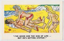 SAUCY POSTCARD - seaside comic, sexy bikini girls big boobs bums, PEDRO #202