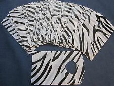 100 zebra plastic print gift party bags 3.5 x 5.5 inches, party favors, crafts