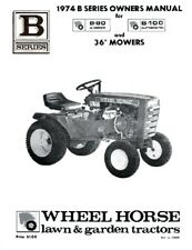 Wheel Horse Lawn Tractor Owners  Manual B-80 - B-100