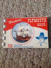 "Vintage Post Card Book, PLYMOUTH, MASS., Ten Album Prints, 4"" x 3""."