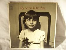 "Vintage Album Barbra Streisand: My Name Is Barbra  12"" 33 RPM, Easy Listening LP"