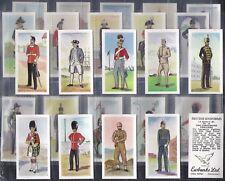 EWBANKS-FULL SET- BRITISH UNIFORMS (25 CARDS) - EXC