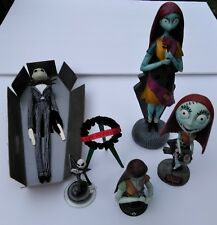 Lot of 5 Collectible Nightmare Before Christmas 2 x Jack & 3 x Sally Figurines