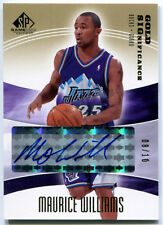 2004-05 SP Game Used MAURICE MO WILLIAMS Gold SIGnificance Auto Rare Jazz SP /10
