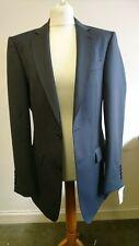Mens Suit Jacket Size 40 R Magee 1866 Grey Herringbone Wool Single Wedding