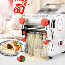 Electric Noodle Machine Pasta Press Maker Dough Knife 24cm+2/6mm Cutter 110V