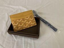 "Replica ""Goyard"" Paris Yellow Card Holder Wallet"