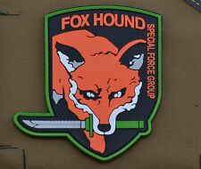 """PVC / Rubber Patch """"Fox Hound SFG"""" with VELCRO® brand hook"""