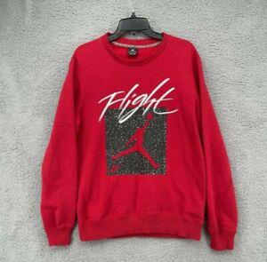 Vintage Nike Air Jordan Flight Jumpman Sweater Sweatshirt Red Size Medium M