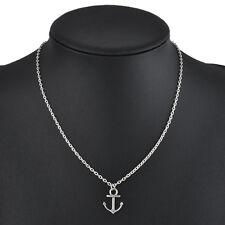 Simple Anchor Design Silver Pendant Bib Chain Necklace Hot Fashion Jewelry