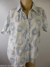 Maglie e camicie da donna a manica corta bianca business