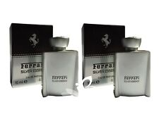 Miniature Mini Ferrari Silver Essence 10ml x2 EDP Men Aftershave