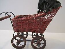 New ListingVtg Small Doll Wicker / Metal Baby Doll Buggy / Carriage / Stroller