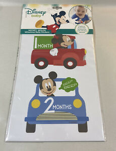 Disney Baby Mickey Mouse First Year Milestone Belly Stickers 12 Month Photo Prop