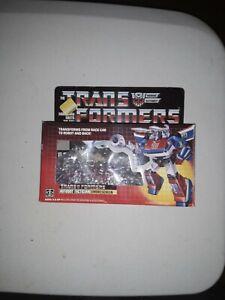 Hasbro Vintage 1985 Transformers G1 SMOKESCREEN Autobot Complete! Uncut card
