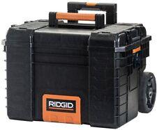 RIDGID Tool Box Storage Cart Rolling Heavy Duty Wheels Black Retractable Handle